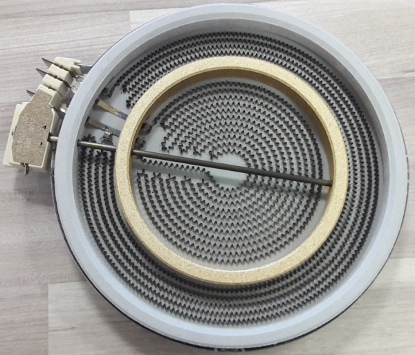 Siemens EF735501, Zweikreiszone 1000Watt / 2200Watt